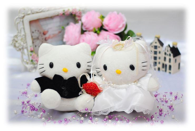 Soft Toy Teddy Bear Wedding Couple Hello Kitty Wedding/AnniversaryGift