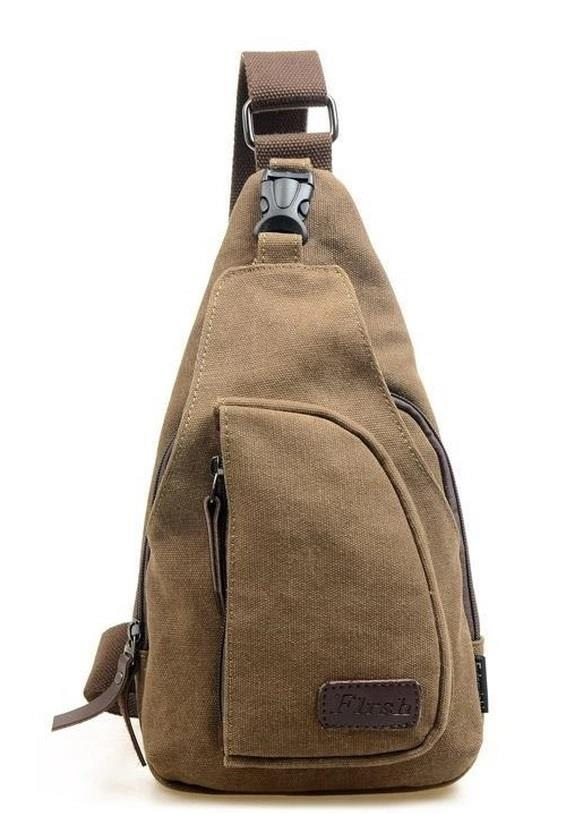 SoKaNo Trendz 3690 Canvas Shoulder Sling Pouch Coffee