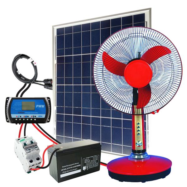 Fan Monitoring System : Solar table fan system with timer end am
