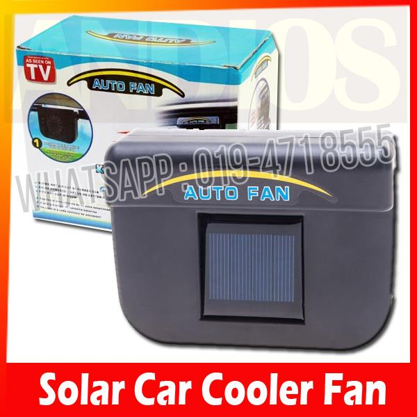 solar car auto cooler fan as seen o end 8 30 2016 12 41 am. Black Bedroom Furniture Sets. Home Design Ideas