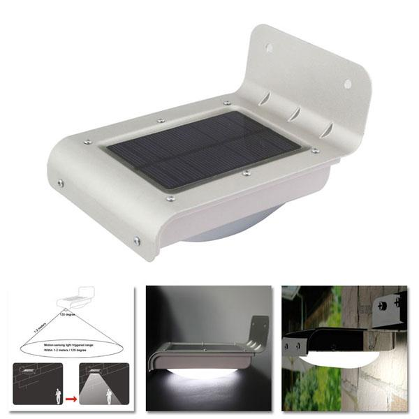 Solar Wall Mounted Lamp With Motion Detector : Solar Infrared 16 LED Motion Sensor (end 6/19/2018 9:15 PM)