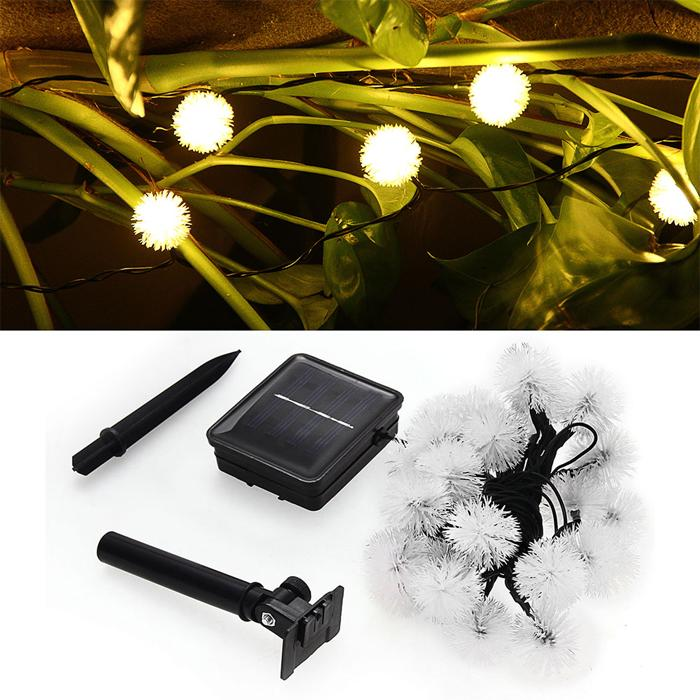 Solar Outdoor String Fairy Lights 20 LED Ball for Homes, Christmas