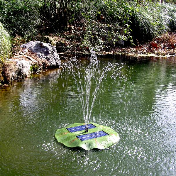 Solar Panel Floating Fountain Water Pond Pump