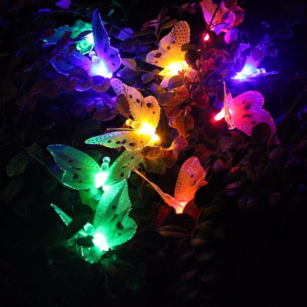Solar Power 10 Butterfly LED Lights (end 8/16/2017 11:15 AM)