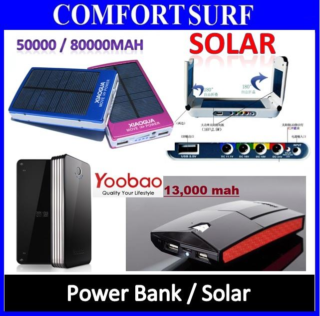 Solar Power Bank Laptop Tablet PC Smartphone 80000 50000 30000mAH ORI