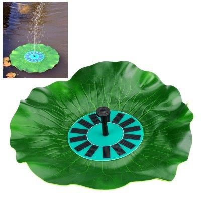 "Solar Powered Decorative Fountain ""Lotus Leaf"" – Floating, Submersible"