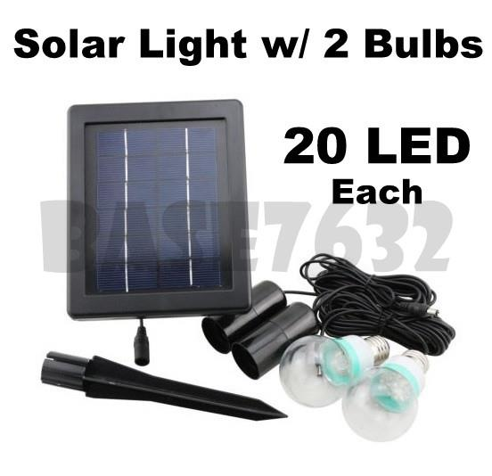 Solar  Powered Lighting System with 40 LED Lamp Bulb Flood Light Spot