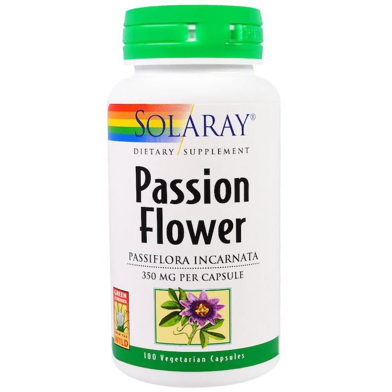 Solaray Passion Flower 100 VCaps (Relax, Depression, Insomnia)USA