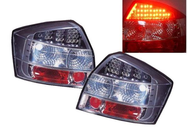 Sonar Audi A4 '01-04 LED Crystal Tail Lamp Black Housing