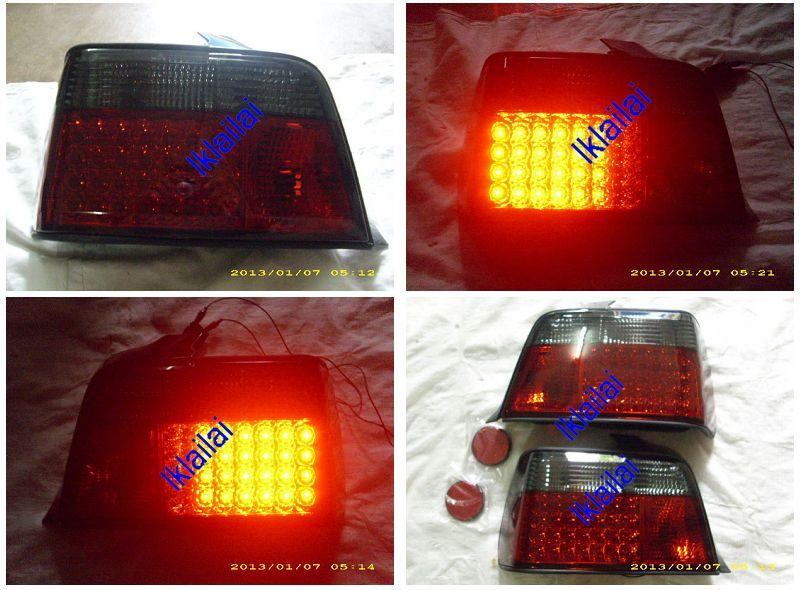 SONAR BMW E36 '92-98 4Door LED Tail Lamp [Red/Smoke]