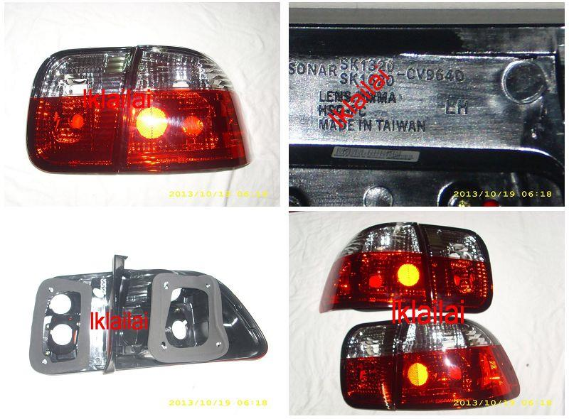 SONAR Honda Civic SR/EG '96-98 Crystal Tail Lamp Red-Clear Lens