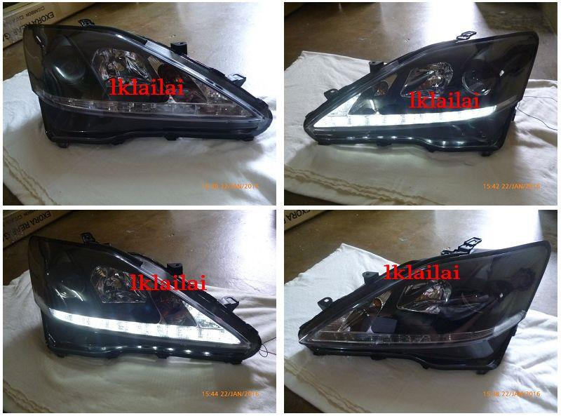 SONAR LEXUS IS250 LED DRL R8 PROJECTOR HEAD LAMP