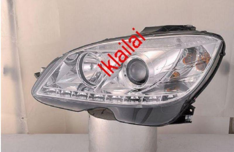 SONAR Mercedes Benz W204 `07 Head Lamp Projector W/Real LED DRL