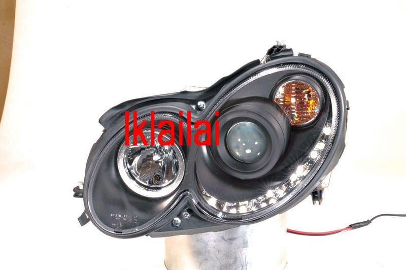 SONAR Mercedes Benz W209 `03-09  LED DRL R8 Projector Head Lamp