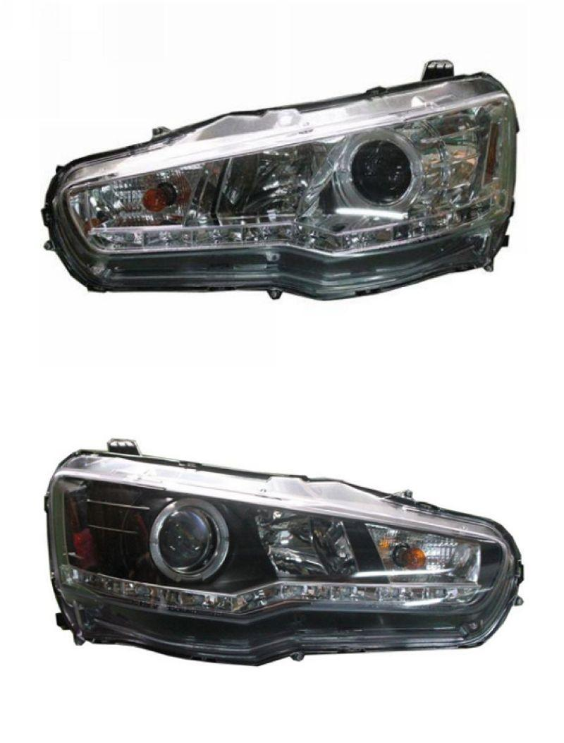 SONAR Mitsubishi Lancer '08 Projector Head Lamp [Black/Chrome]