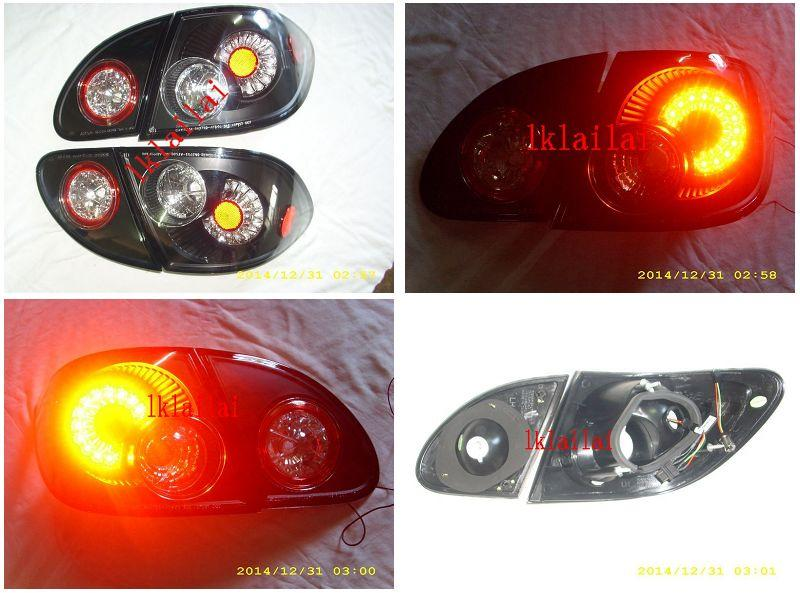 SONAR Toyota Altis '01-04 LED Tail Lamp [Black Housing]
