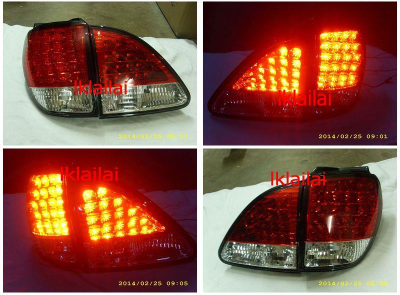 SONAR Toyota Harrier RX300 '98-02 LED Tail Lamp [Red/Clear]