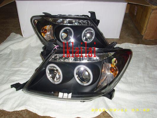 Sonar Toyota Hilux Vigo '04-09 Projector Head Lamp+LED+CCFL Ring Black