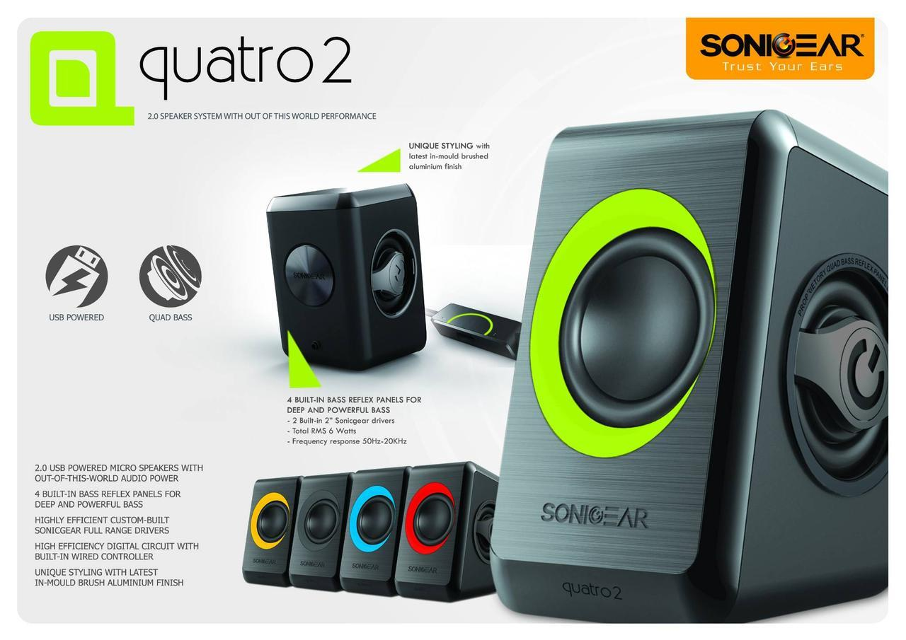 Sonic Gear Quatro 2 Portable Speaker 6W RMS / Powered by USB - Red
