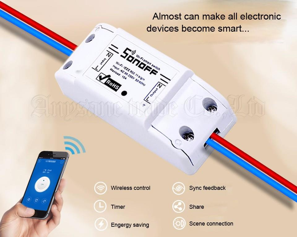 Sonoff DIY Wifi Smart Switch Smart Timer controlled by phone App