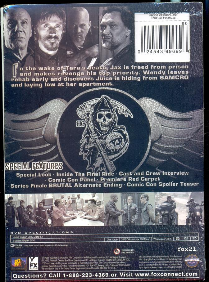 Sons Of Anarchy The Final Season  - New DVD
