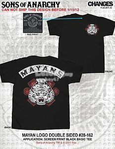 Sons Of Anarchy Mayans T-shirt - New