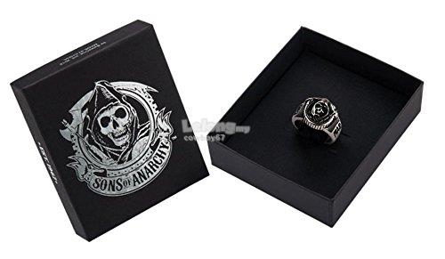 Sons Of Anarchy Samcro Skull Stainless Steel Ring - New