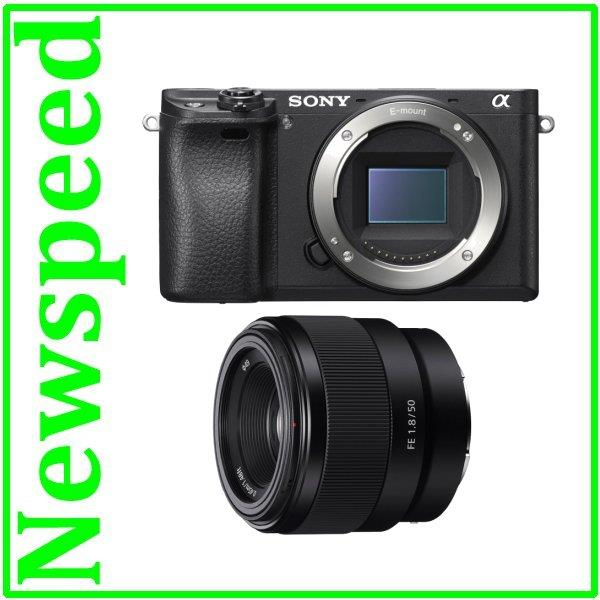 New Sony Alpha A6300 Body + FE 50mm F1.8 Lens Digital Camera