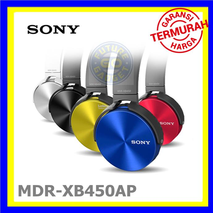 SONY MDR-XB450AP EXTRA BASS Stereo Headphones / Hands Free Phone Calls
