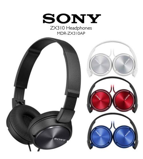 Sony MDR-ZX310AP Light Headphones Powerful & Stereo Sound Original