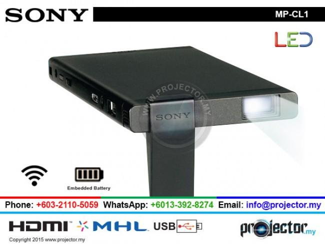 SONY MP-CL1 LED LASER MOBILE WIRELESS PROJECTOR WITH BUILT IN BATTERY