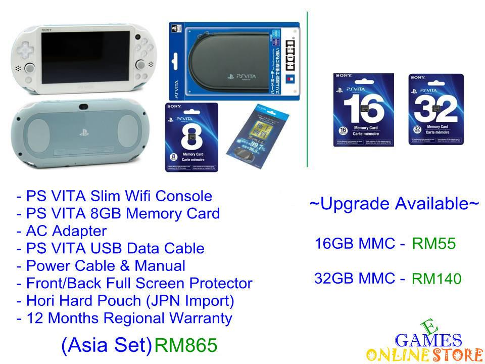 SONY PS VITA Wi-Fi Slim Console Bundle (Colour) ★Brand New & Sea..