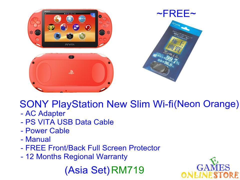 SONY PS VITA Wi-Fi Slim Console (Neon Orange) ★Brand New & Seale..