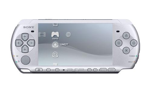Sony PSP Slim 3000 Mystic Silver + 8GB Mark2 Memory Card Full Set