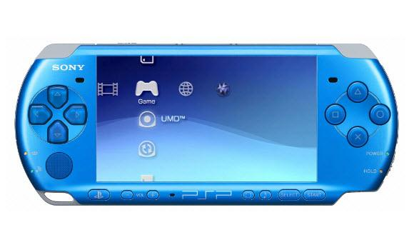 Sony PSP Slim 3000 Vibrant Blue + 8GB Mark2 Memory Card Full Set