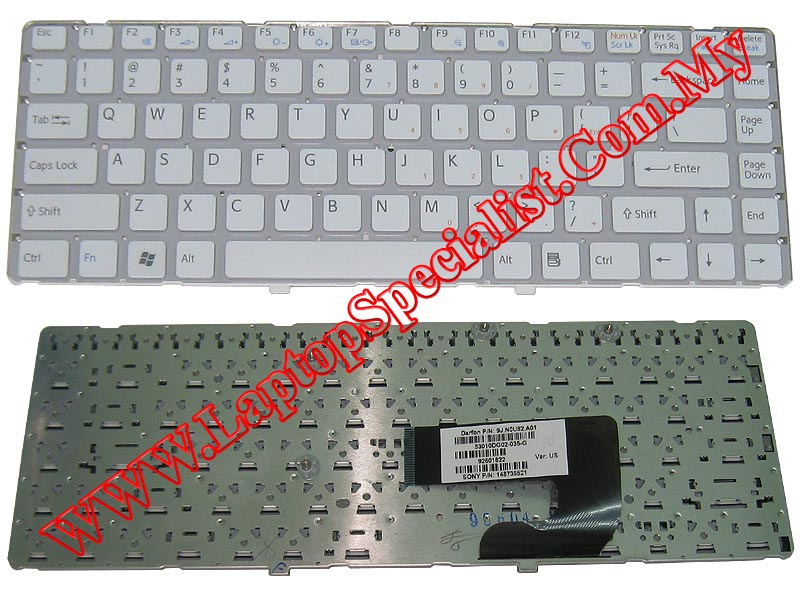 Sony Vaio VGN-NW 148738321 White New US Keyboard