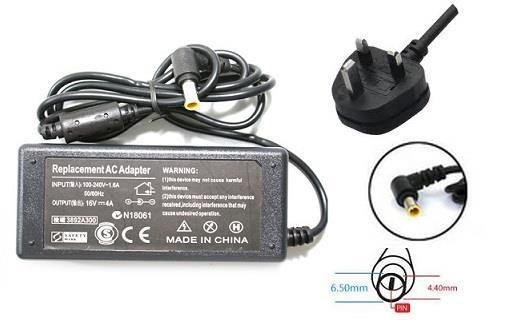 Sony VGP-AC16V8 16V 4A VAIO Laptop Power Adapter 6.5X4.4mm