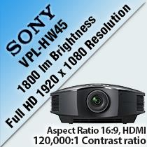 SONY VPL-HW45 HOME CINEMA PROJECTOR