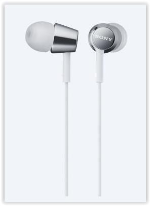 SONY WIRED EARSET MDR-EX150AP (WHITE)