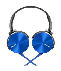 SONY WIRED EXTRA BASS HEADSET MDR-XB450APLQ (BLUE)