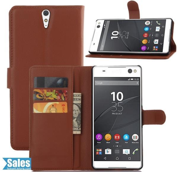 Sony Xperia C5 Ultra Leather Casing Case Cover