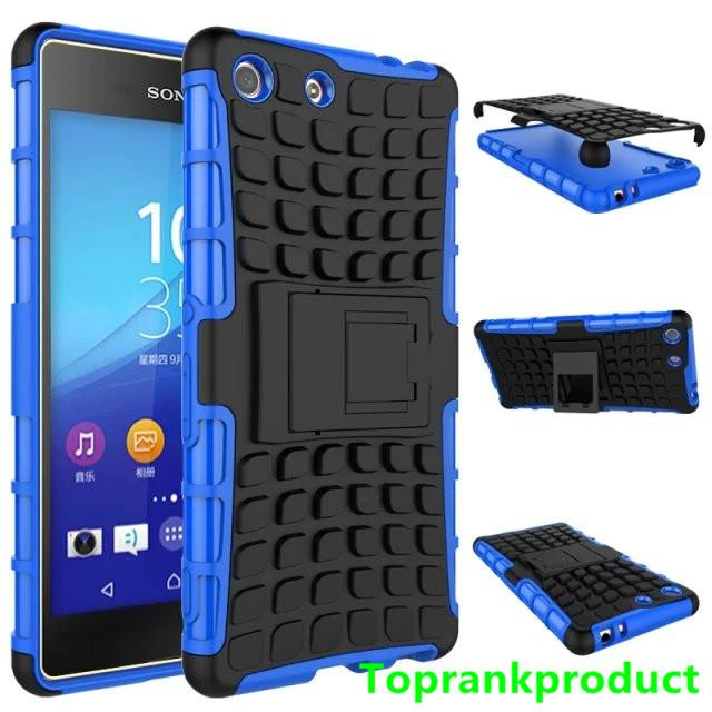 Sony Xperia M5 Tough Armor Hybrid Stand Back Case Cover Casing