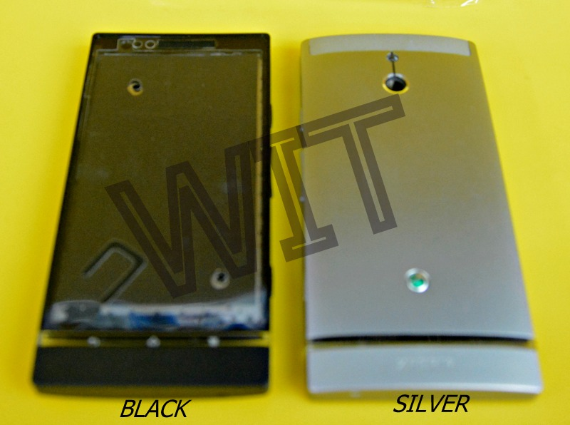 Sony Xperia P Lt22 Black/White Housing Middle Bezel Frame Back Cover