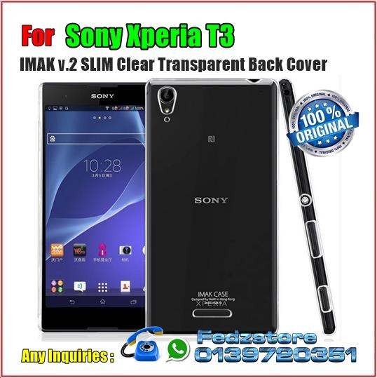 Sony Xperia T3 - IMAK v.2 SLIM Clear Transparent Back Cover
