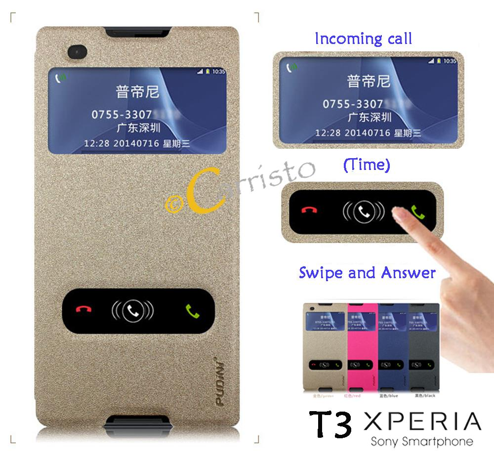 sony xperia t3 leather flip cover ca end 8 24 2018 3 15 pm