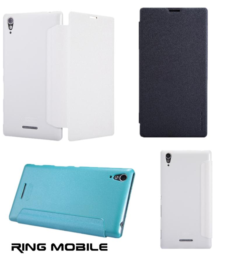 Sony Xperia T3 Nillkin Sparkle Series Leather Case - rmtlee