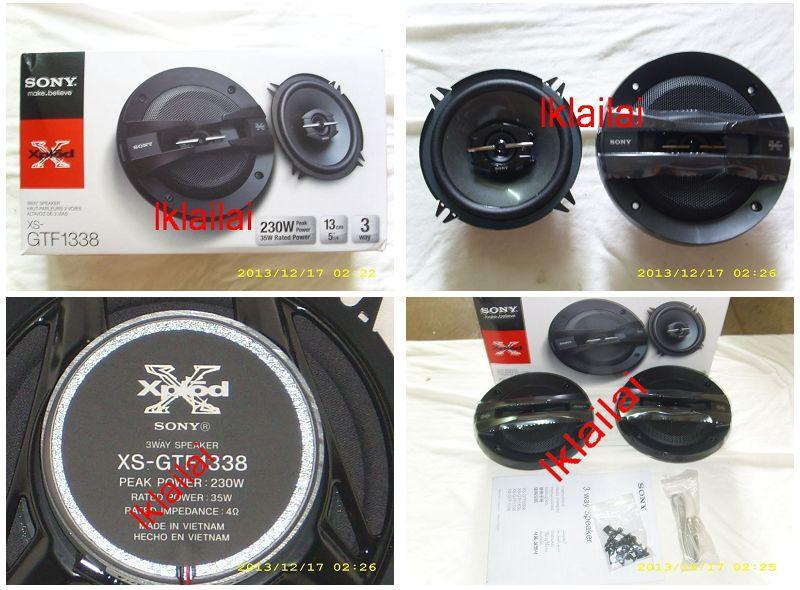 Sony XS-GTF1338 - 5¡± 3-way Coaxial Speaker 35W 230W