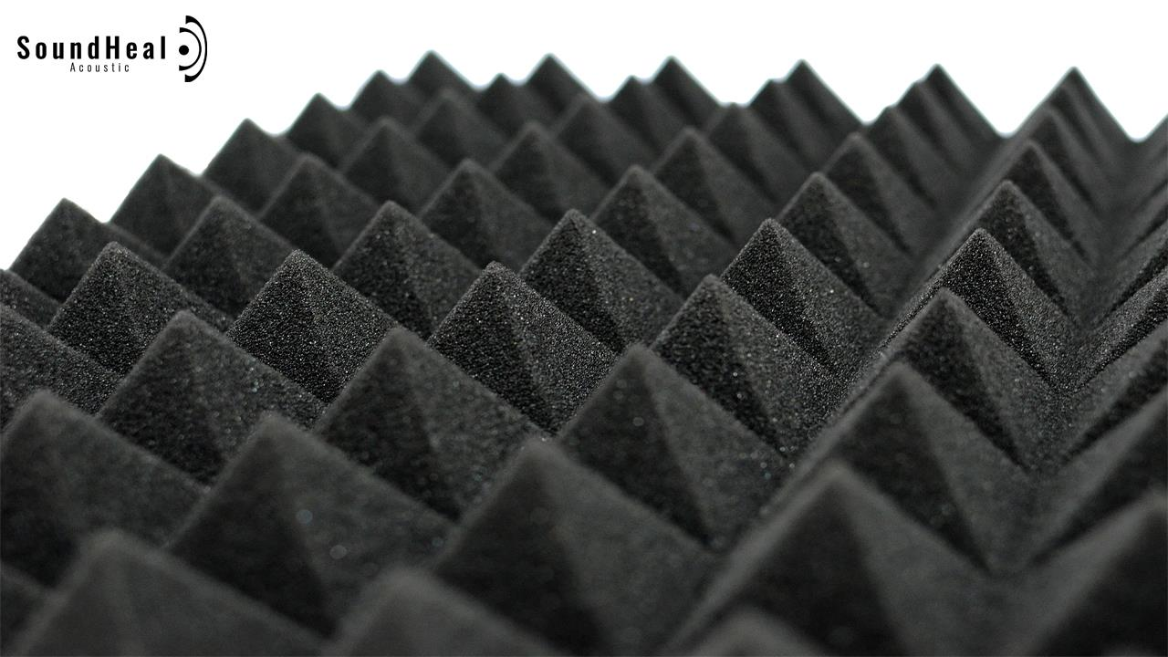 SoundHeal High Density Sound Proof Pyramid Acoustic Foam -StockArrived