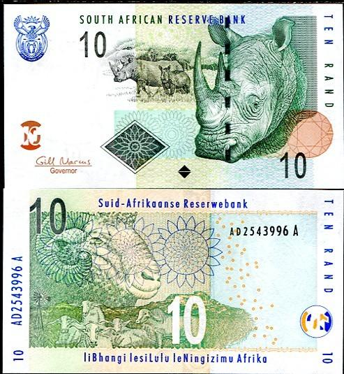 SOUTH AFRICA 10 RAND 2009 P 128 P NEW UNC