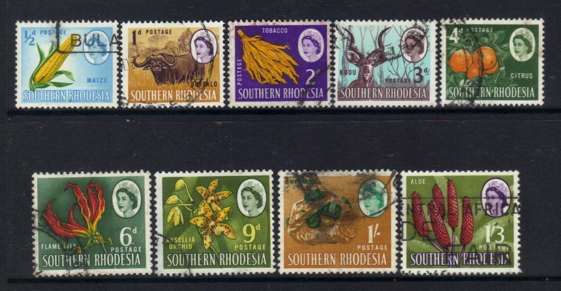 SOUTHERN RHODESIA stamps 1964 QUEEN used BJ49